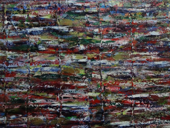 """A long, long time ago"" 48x36 inches Acrylic on Canvas 2012"