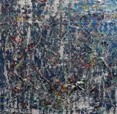 Something borrowed, something blue 24x24 inches Acrylic on Canvas 2012