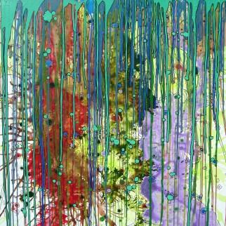 Breathe Dive Grok 36x36 inches Acrylic on Canvas $700