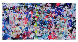 Impossible to ignore 24x12 inches Acrylic on cradled panel board $350