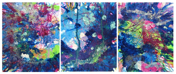 AwarenessUnderstandingAcceptance 24x10 inches Triptych $500