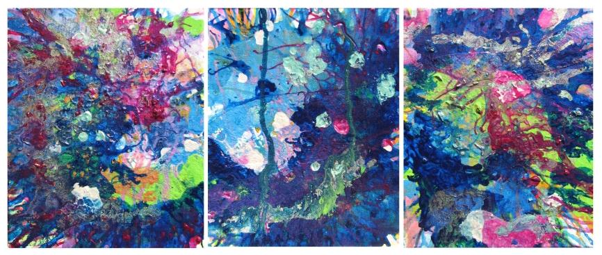 AwarenessUnderstandingAcceptance 24x10 inches Triptych $500